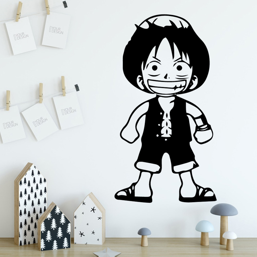 Large Monkey D Luffy Vinyl Decals Wall Stickers Wall Decals Home Decoration Decal Kids Room Mural Bedroom Decor Naklejki