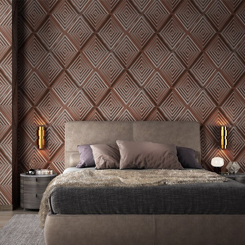Black 3d Lattice Wallpaper Home Living Room Decor Yellow Bedroom Dining  Room Background Wallpaper Soft-wrapped Wall Paper
