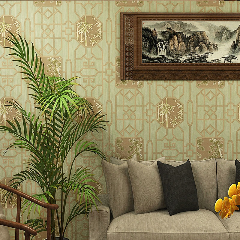 European Style Wallpaper Ancient Wood Grain Living Room Bedroom Background Pvc Wall Paper Roll