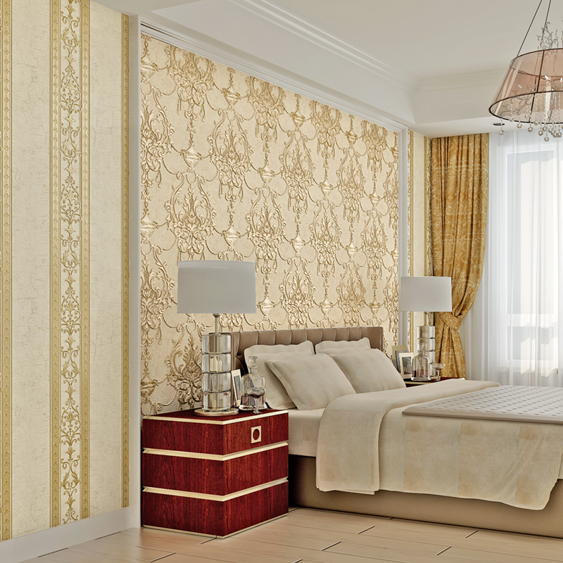 Waliicorners Wallpaper 3D Embossed Non-woven Wallpapers