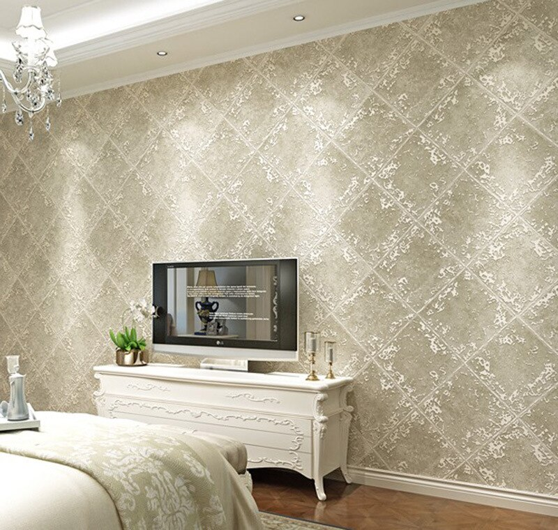 American Retro Industrial Wind Diamond Non Woven 3d Wallpaper Living Room Bedroom Tv Simple Background Wall