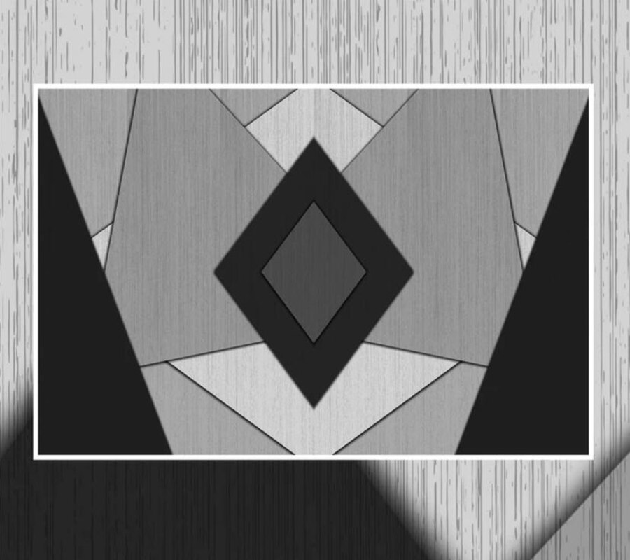 Decorative Wallpaper 3d Geometric Lines Black White Background Wall