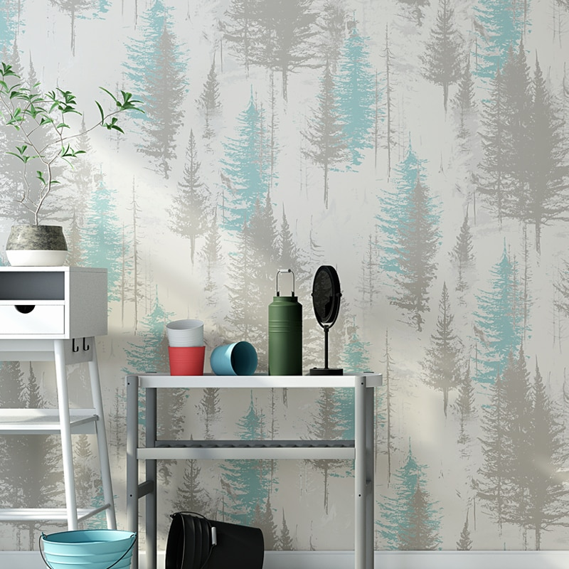 Nordic Forest Wall Paper Home Decor Tree Mural Wallpapers for Living Room  Bedroom Walls papel pintado