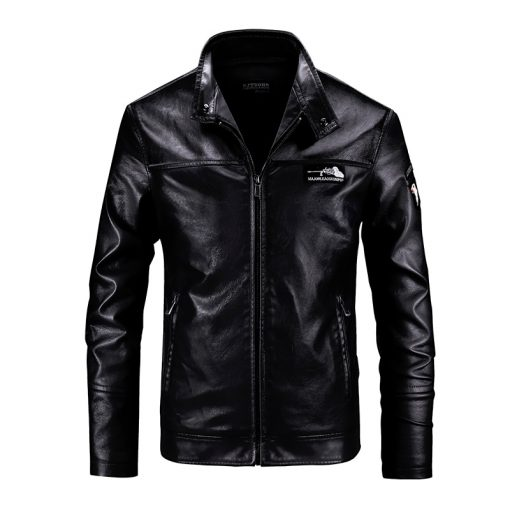 casual shoes on feet at new lifestyle Smart casual Leather Jackets Men's jacket male fashion black warm cool  Outwear Men's Coats Spring Autumn PU Jacket Coat