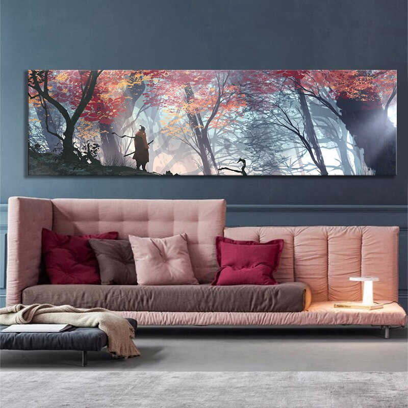 Large Size Poster Wall Decor Painting Sekiro Shadows Twice Picture Video Art Frameless Unframed