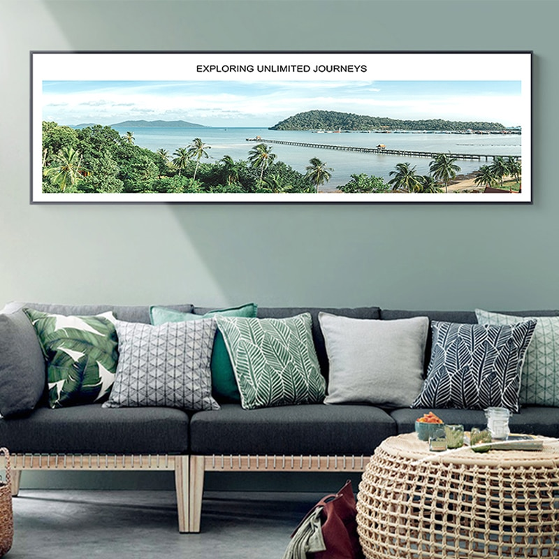 Modern Natural Scenery Landscape Prints Wall Art Canvas Paintings Nordic Poster Pictures For Sofa Background Home Decorative