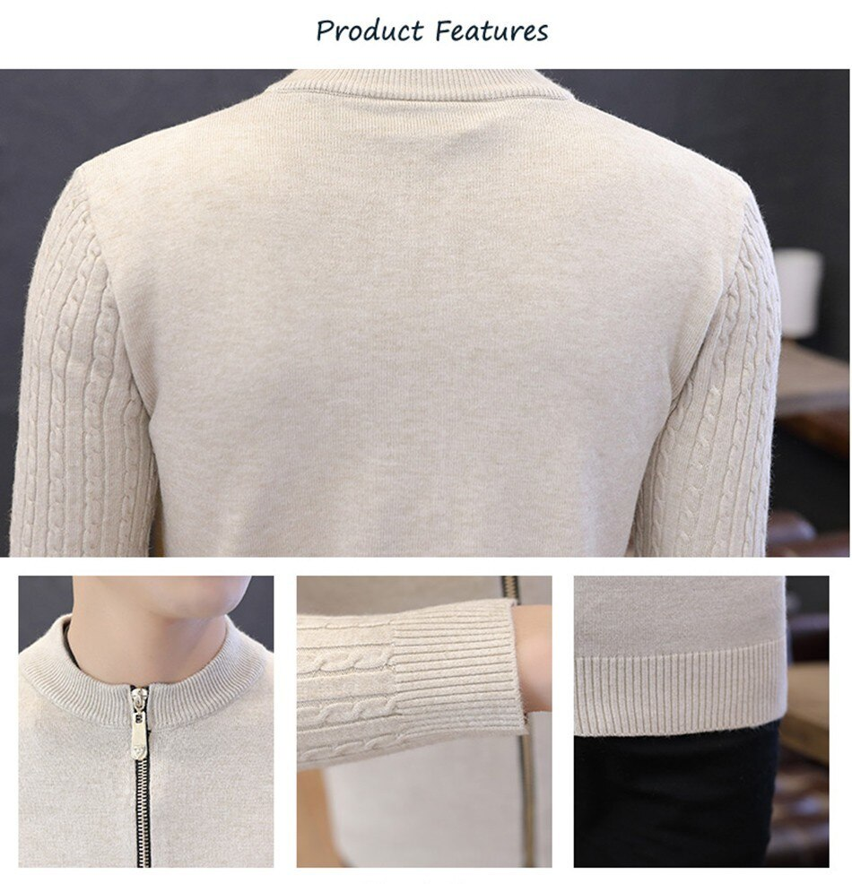 Man Cardigan Sweater Winter Long Sleeves Sweaters Men Autumn 2020 Cotton  Knitted Sweater New Arrival Coat Male Tops Hot