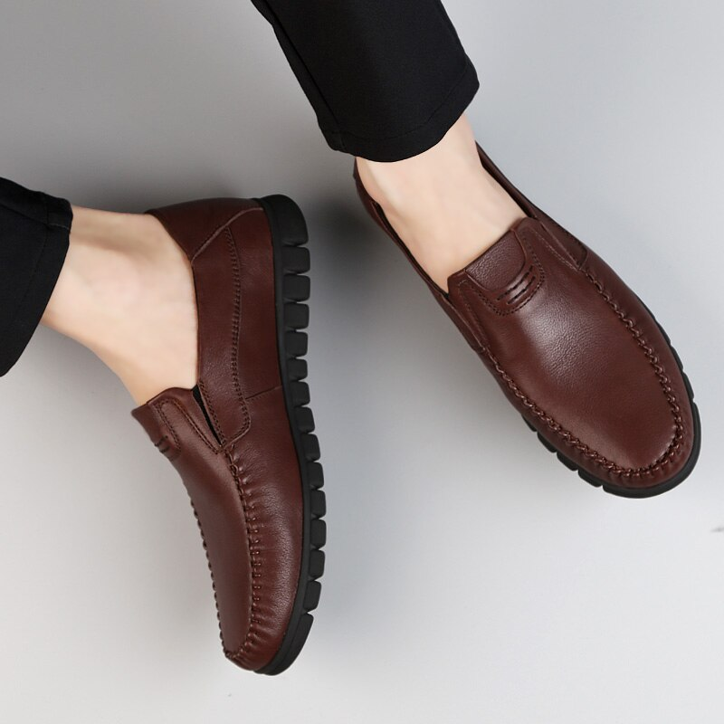 Waliicorners Men Loafers Shoes Genuine