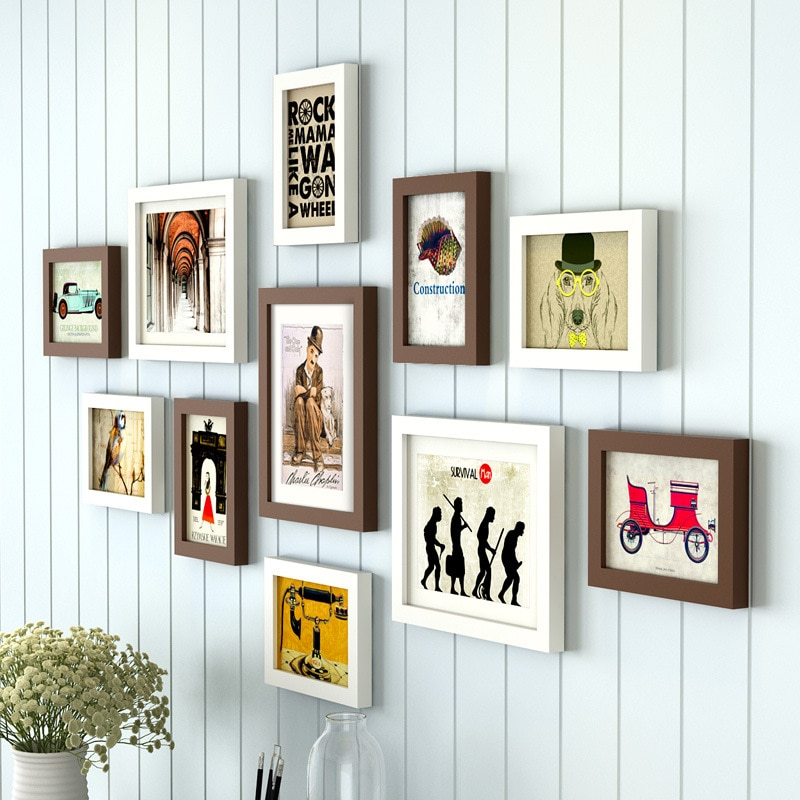 11-Pieces-Set-Cheap-Photo-Frames-Set-Wood-Picture-Frame-Wall-Decoration-for-Living-Room-Creative Collection of Trend How To Frame Art For Cheap Now @capturingmomentsphotography.net