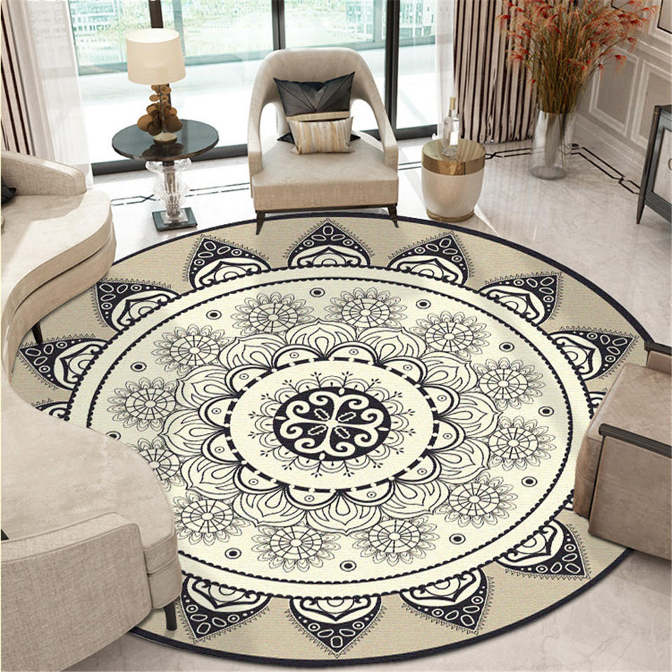 Mandala Round Floor Carpet