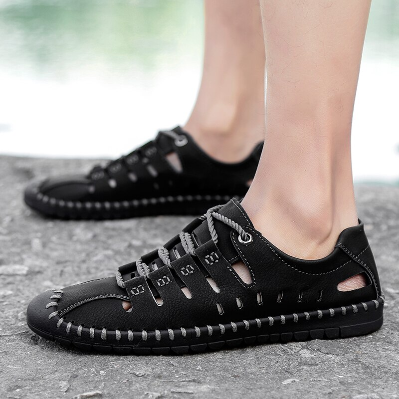 Men/'s Lace up Casual Moccasins Leather Driving Boat Loafer Slip on Sneaker Shoes