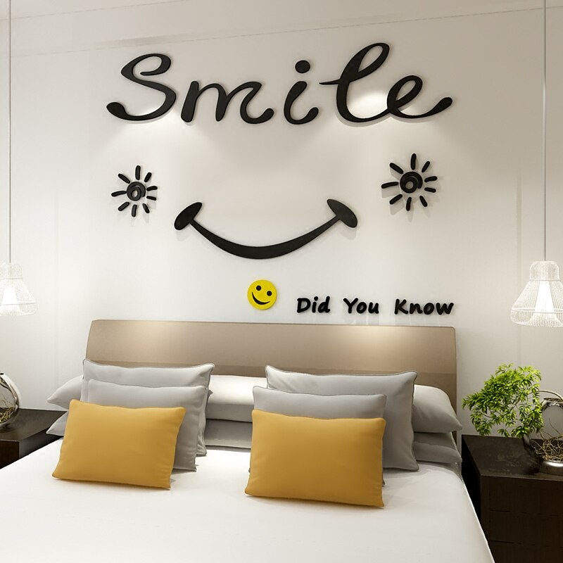 Waliicorners Creative English Letters Acrylic 3d Wall Stickers Smiley Face Living Room Wall Sticker Bedroom Dining Room Background Wall Decor Waliicorner S Store,Kitchenaid Superba Dishwasher Parts Diagram
