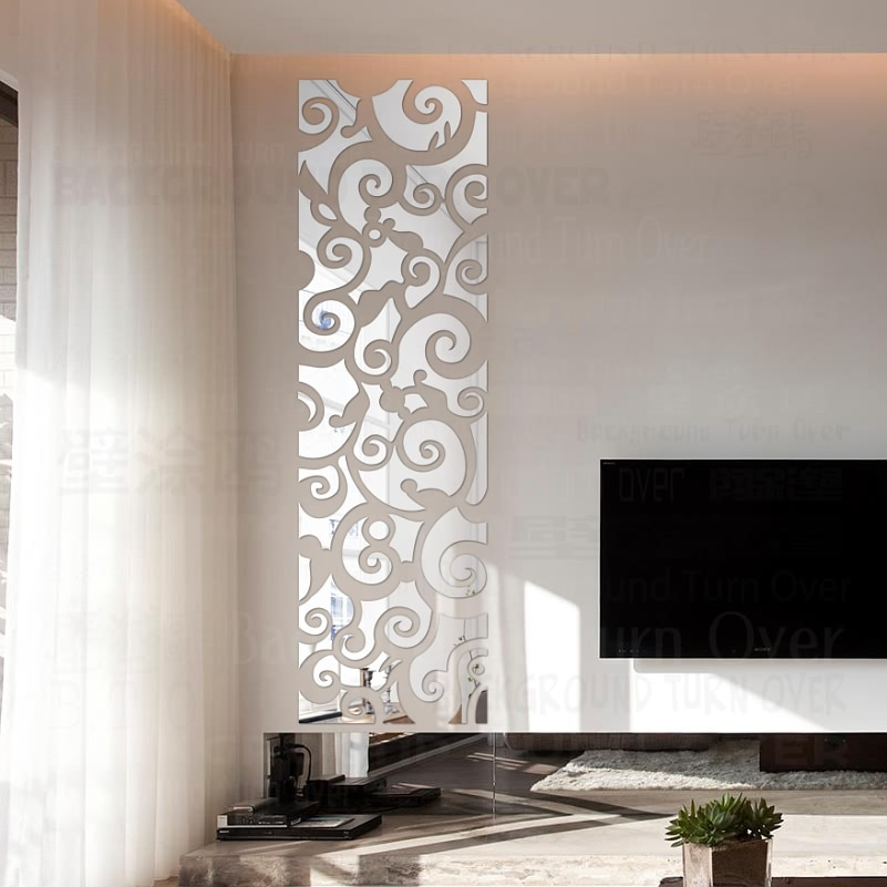 Waliicorners Creative Auspicious Clouds Pattern 3d Decorative Mirror Wall Stickers Tv Wall Living Room Bedroom Decor Decoration Home Art R123 Waliicorner S Store